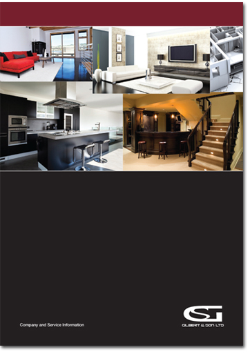 Building contractor brochure design
