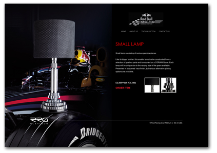 Red Bull Racing F1 Small Lamp